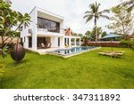 luxury villa with swimming pool ... | Shutterstock . vector #347311892