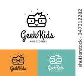 geek kids logo template | Shutterstock .eps vector #347312282