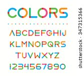 colorful font. retro style... | Shutterstock .eps vector #347315366