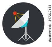 satellite dish or antenna flat... | Shutterstock .eps vector #347317658