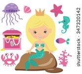 cute mermaid vector illustration | Shutterstock .eps vector #347320142