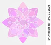 abstract pink mandala. round... | Shutterstock .eps vector #347321606