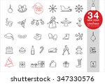 vector christmas and new year... | Shutterstock .eps vector #347330576