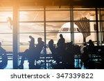 passengers waiting at gate... | Shutterstock . vector #347339822