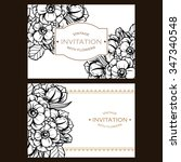 invitation with floral... | Shutterstock .eps vector #347340548