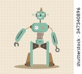 robot theme elements vector  eps | Shutterstock .eps vector #347340896