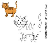 connect the dots to draw the... | Shutterstock .eps vector #347345762