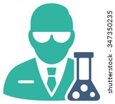 scientist vector icon. style is ... | Shutterstock .eps vector #347350235