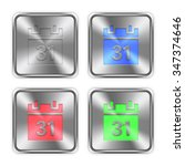 color calendar icons engraved...