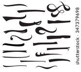 set of underlines lettering... | Shutterstock .eps vector #347379698