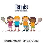 tennis sport game graphic... | Shutterstock .eps vector #347379902