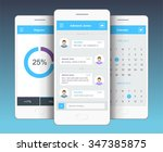 vector phone chat interface.... | Shutterstock .eps vector #347385875