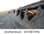 Small photo of Shipwreck of the SS Waitangi at Patea, Taranaki, New Zealand