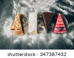 variety of cakes  apple pie ... | Shutterstock . vector #347387432
