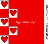 happy valentine's day card | Shutterstock .eps vector #347406986