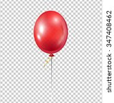 Big Red Balloon. Transparent...