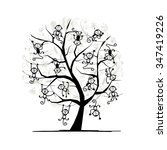 monkey tree for your design.... | Shutterstock .eps vector #347419226