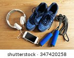 sport shoes  equipment and... | Shutterstock . vector #347420258