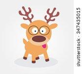 Cute Cartoon Reindeer....