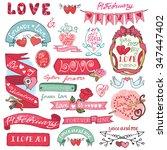 valentines day wedding love...   Shutterstock . vector #347447402
