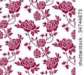 roses seamless pattern | Shutterstock .eps vector #34744873
