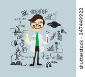 scientist. character design... | Shutterstock .eps vector #347449922
