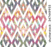 seamless faux textile reworked... | Shutterstock .eps vector #347449955