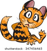 ginger cat with big wondering... | Shutterstock .eps vector #347456465