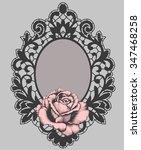 Lace. Frame. Rose. Gothic. Rose ...