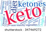 keto word cloud on a white... | Shutterstock .eps vector #347469272