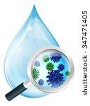 Microscopic Bacteria Water Drop ...