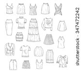 vector set of hand drawn... | Shutterstock .eps vector #347472242