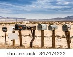 Old Us Mailboxes Along Route 66
