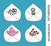 set of mail envelopes | Shutterstock .eps vector #347480456