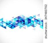 abstract blue geometric strip... | Shutterstock .eps vector #347483702