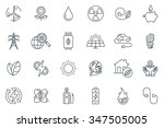 green energy icon set suitable... | Shutterstock .eps vector #347505005