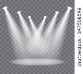 vector spotlights scene | Shutterstock .eps vector #347508596
