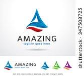 amazing letter a logo template... | Shutterstock .eps vector #347508725