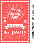 happy valentines day poster.... | Shutterstock .eps vector #347522852