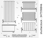 central heating radiators icons ... | Shutterstock .eps vector #347558846