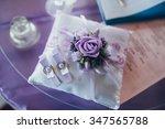 beautiful wedding rings near... | Shutterstock . vector #347565788