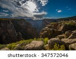 painted wall black canyon of... | Shutterstock . vector #347572046