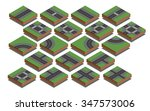 isometric collection of... | Shutterstock .eps vector #347573006