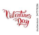 original hand lettering happy... | Shutterstock . vector #347578286
