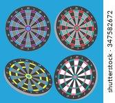 dart board vector set... | Shutterstock .eps vector #347582672