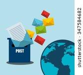postal service design  vector...   Shutterstock .eps vector #347584682