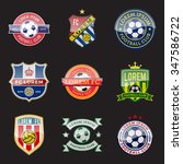 set of football  soccer  crests ... | Shutterstock .eps vector #347586722