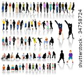 lots of colorful people with... | Shutterstock .eps vector #34758724
