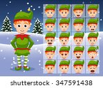 Christmas Elf Cartoon Emotion...