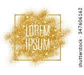 gold background for flyer ... | Shutterstock .eps vector #347606162